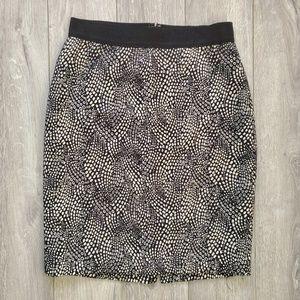 Ann Taylor animal print pencil work skirt sz 2